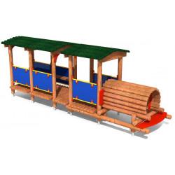 Trenino in legno.