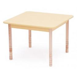 Tavolo Color quadrato giallo.