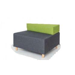 ZigZag graphite sofa