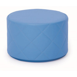 Pouf trapuntato blu