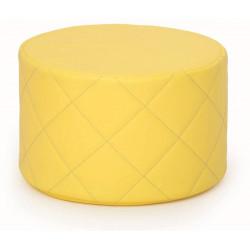 Pouf trapuntato giallo