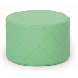 Pouf trapuntato verde