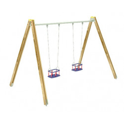 Altalena doppia sedili gabbia.