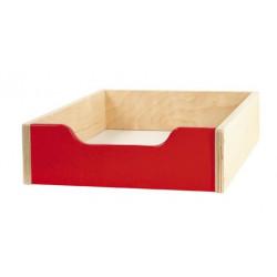 Contenitore legno piccolo - rosso.