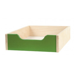 Contenitore legno piccolo - verde.
