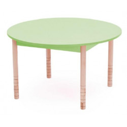 Tavolo Color circolare verde.