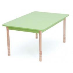 Tavolo Color rettangolare verde.