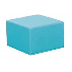 Pouf quadrato nido - azzurro.