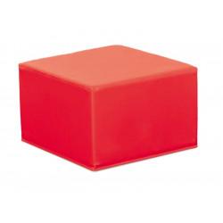 Pouf quadrato nido - rosso.