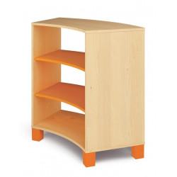 Mobile curvo alto - arancio.