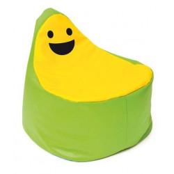 Pouf Faccina verde-giallo.