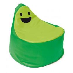 Pouf Faccina verde-verde.