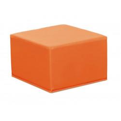 Pouf quadrato nido - arancio.