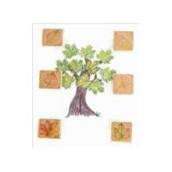 Timbri in legno - Foglie.