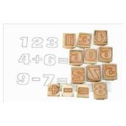 Timbri in legno - Numeri,...