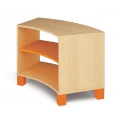 Mobile curvo basso - arancio.