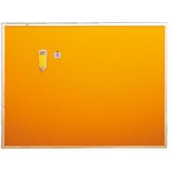 Bacheca in sughero arancio.