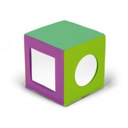 Cubo con specchi colorato.