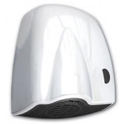 Asciugamani elettrico a pulsante ABS bianco.