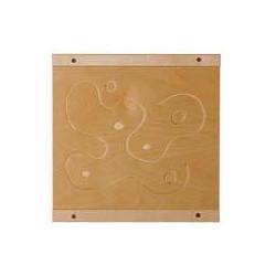 Pannello sensoriale del tatto - legno fresato.