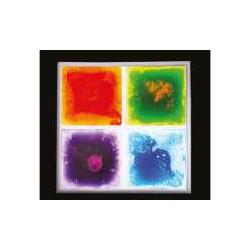 Pannello sensoriale liquidi colorati.