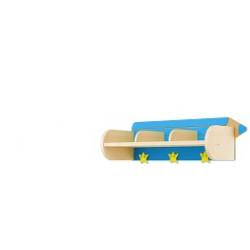 Mensola Matita 3 posti blu.