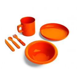 Set stoviglie completo - arancio.