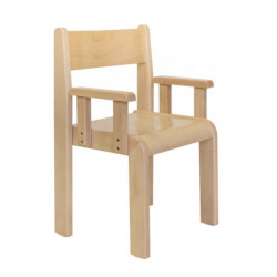 Sedia Minnie con braccioli 2 naturale.