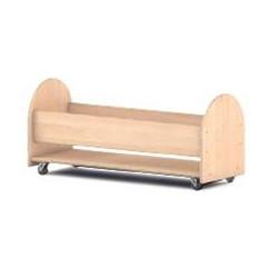 Carrello portacuscini in legno.